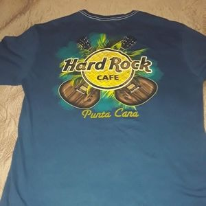 HARD ROCK PUNTA CARA L BLUE GREAT GRAPHIC T-SHIRT